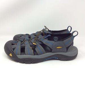 Keen Newport Gray Blue Sandal Size 13